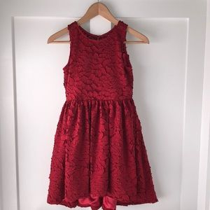 Chasing Fireflies Rich Red Holiday Dress Sz. 8